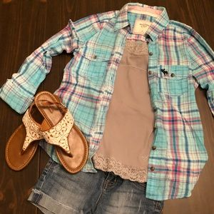 Abercrombie and Fitch Flannel Button Down